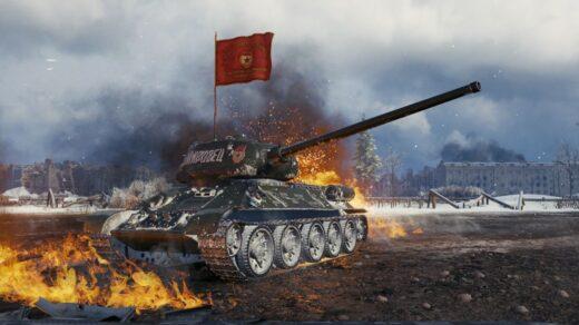 Игроки-World-of-Tanks-недовольны-дебютом-игры-в-Steam-Советский-танк-развевает-знамя-от-взрыва