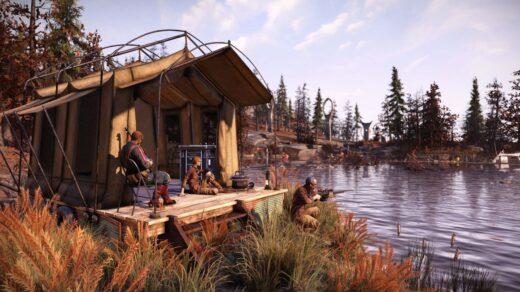 Обновление-Fallout-76-Locked-Loaded-позволит-вам-иметь-несколько-лагерей-и-комплектов-снаряжения.-Лагерь-у-воды.